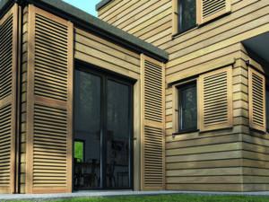 Volets en bois réalisé par l'agence Biason à Pau